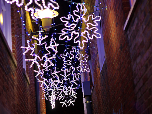 Holiday Date Snowflake Alley W Steinbrook Photography