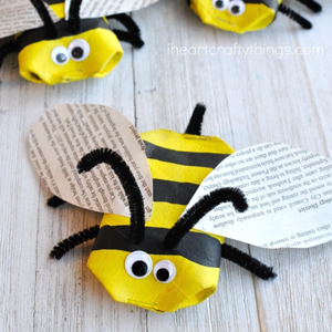 recycled bee craft 3