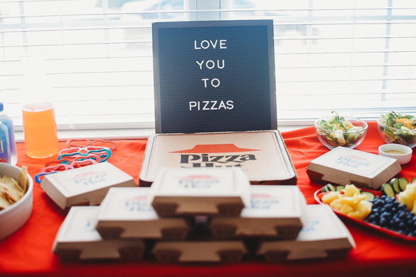 Love you to pizzas party