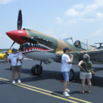 Fighter airplane at Easton Airport Day